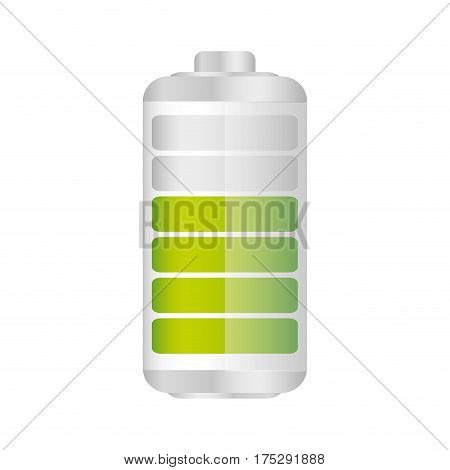 battery in seventy percent icon, vector illustraction design