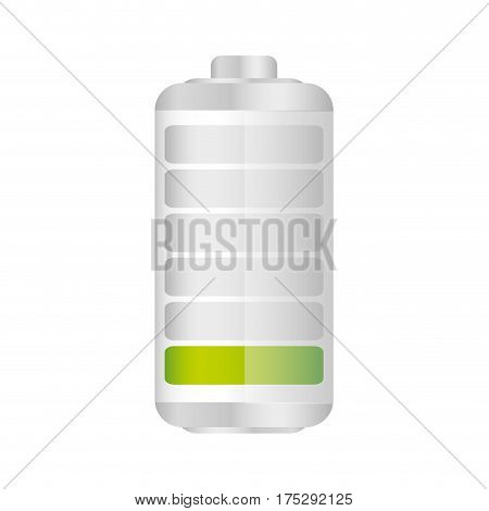 battery in ten percent icon, vector illustraction design