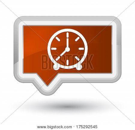 Clock Icon Prime Brown Banner Button