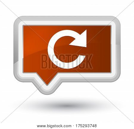 Reply Rotate Icon Prime Brown Banner Button