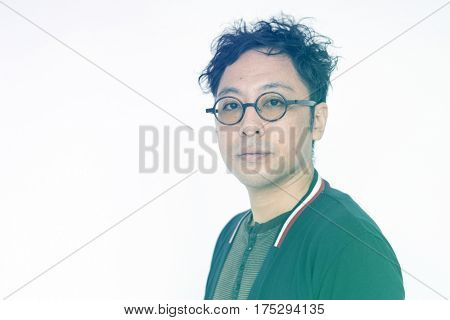 Adult Man Gesture Portrait Studio