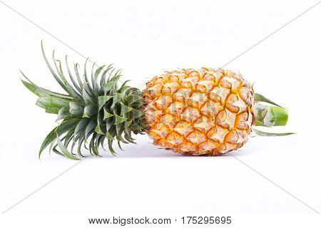 ripe pineapple is  tropical fruit on white background healthy pineapple fruit food isolated