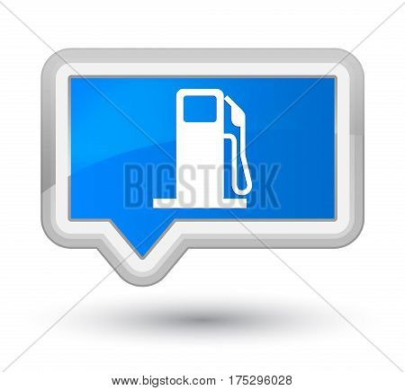 Fuel Dispenser Icon Prime Cyan Blue Banner Button