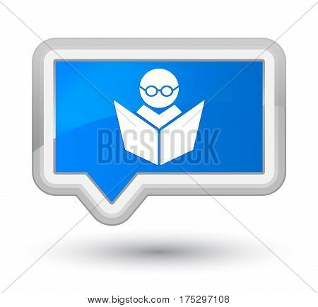 Elearning Icon Prime Cyan Blue Banner Button