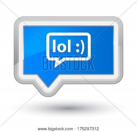 Lol Bubble Icon Prime Cyan Blue Banner Button