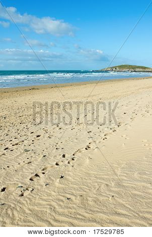 Fistral Beach In Newquay, Cornwall Uk.