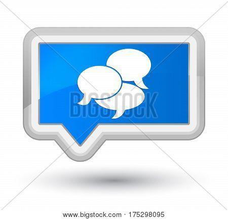 Comments Icon Prime Cyan Blue Banner Button