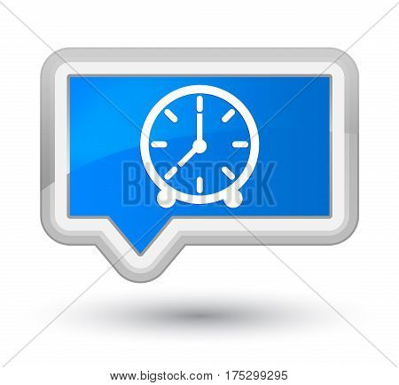 Clock Icon Prime Cyan Blue Banner Button