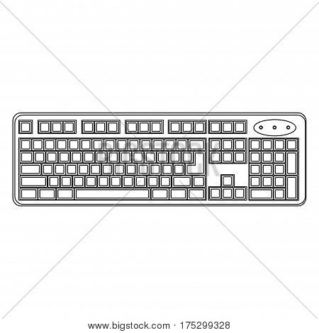 figure computer keyboard icon, vector illustraction design