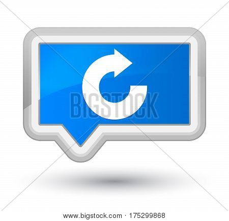Reply Arrow Icon Prime Cyan Blue Banner Button