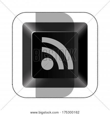 black button wife icon, vector illustraction design