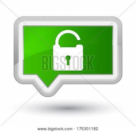 Unlock Icon Prime Green Banner Button