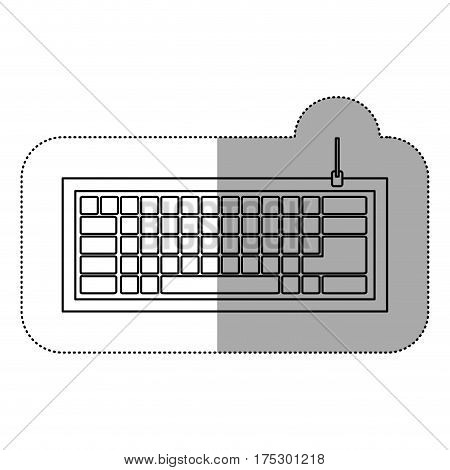 silhouette computer keyboard icon, vector illustraction design