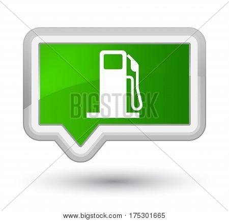 Fuel Dispenser Icon Prime Green Banner Button