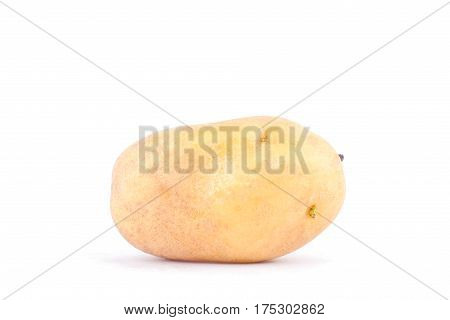 fresh organic potatoes on white background healthy potato Vegetable food isolated