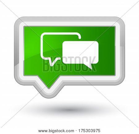Testimonials Icon Prime Green Banner Button