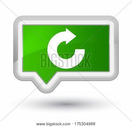 Reply Arrow Icon Prime Green Banner Button