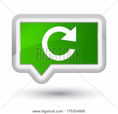 Reply Rotate Icon Prime Green Banner Button