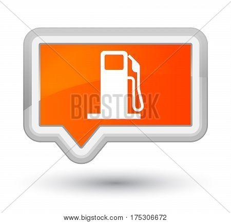 Fuel Dispenser Icon Prime Orange Banner Button