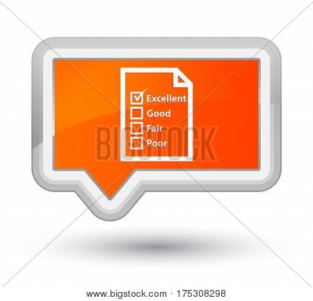Questionnaire Icon Prime Orange Banner Button