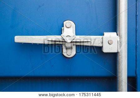 Gate Valve Of Blue Cargo Shipping Container