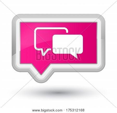 Testimonials Icon Prime Pink Banner Button