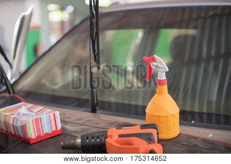 Equipment for tinted car windows,change for tinted car windows