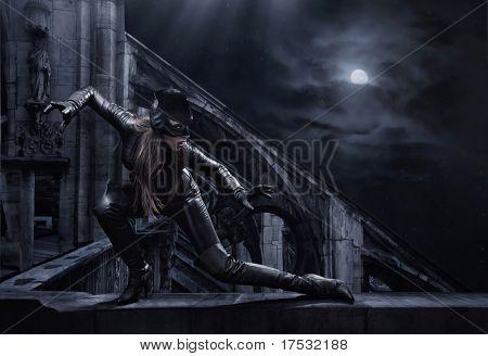 Hunting woman
