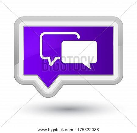Testimonials Icon Prime Purple Banner Button
