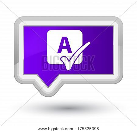 Spell Check Icon Prime Purple Banner Button