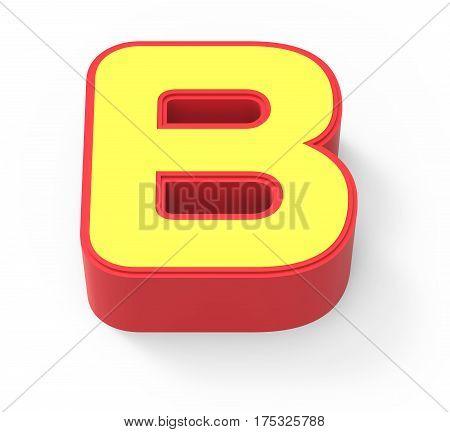 Yellow Letter B
