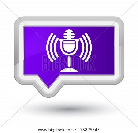 Mic Icon Prime Purple Banner Button