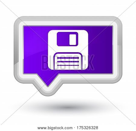 Floppy Disk Icon Prime Purple Banner Button