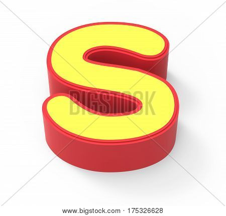 Yellow Letter S