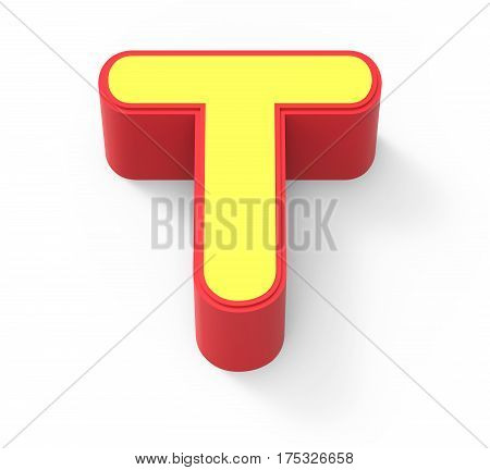 Yellow Letter T