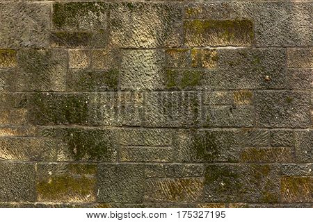 texture of the old stone wall