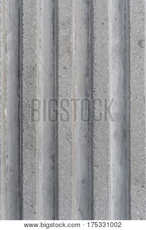 architecture modern design of concrete vertical groove pattern texture background
