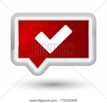 Validate Icon Prime Red Banner Button