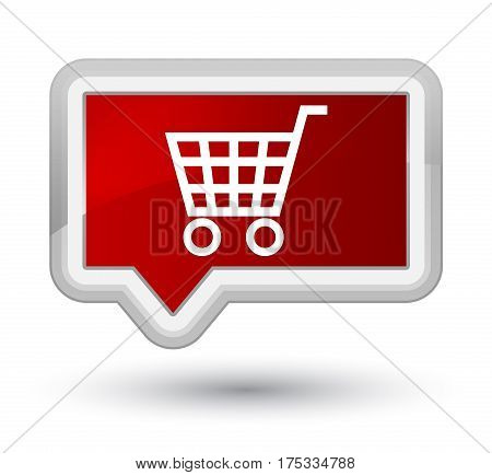 Ecommerce Icon Prime Red Banner Button