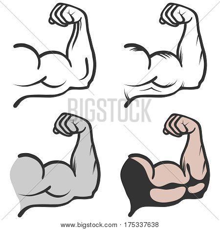 Biceps icon. Flat design, vector illustration, vector.