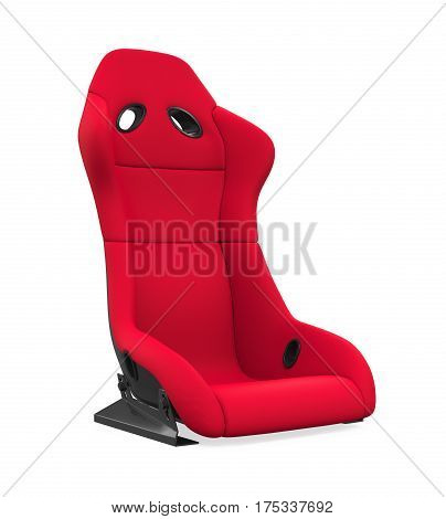 Sport Car Seat isolated on white background. 3D render