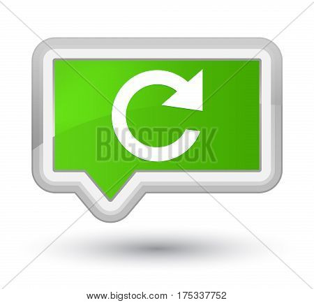 Reply Rotate Icon Prime Soft Green Banner Button