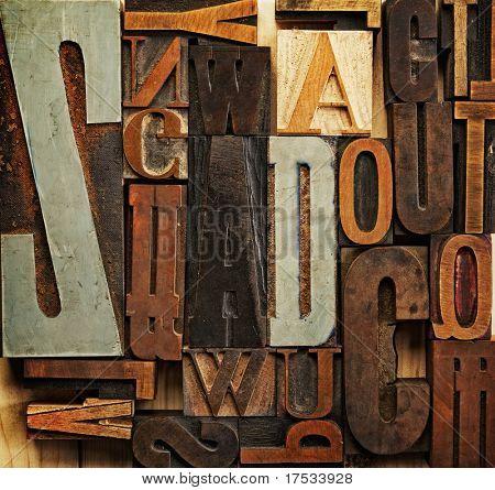 Vintage letter prints