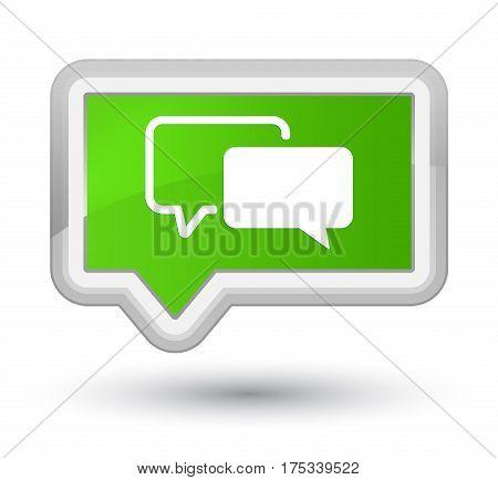 Testimonials Icon Prime Soft Green Banner Button