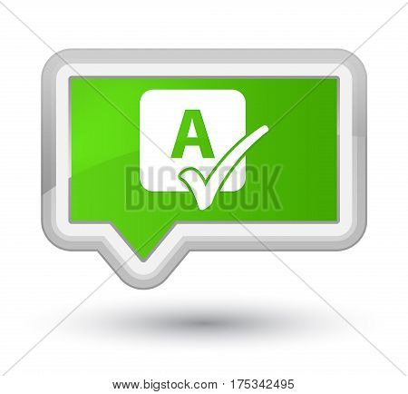 Spell Check Icon Prime Soft Green Banner Button