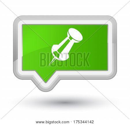 Push Pin Icon Prime Soft Green Banner Button