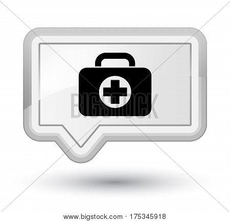 First Aid Kit Bag Icon Prime White Banner Button