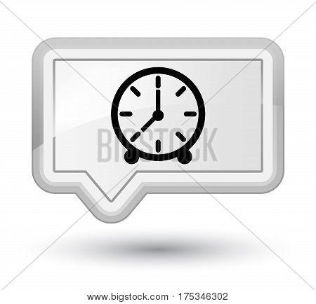 Clock Icon Prime White Banner Button