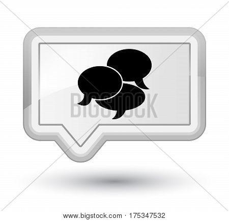 Comments Icon Prime White Banner Button