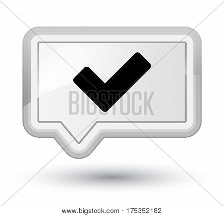 Validate Icon Prime White Banner Button